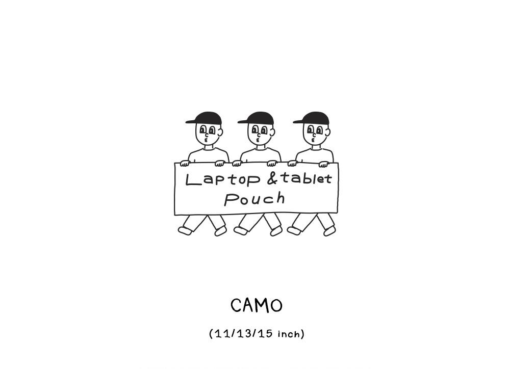 1537(FIFTEEN THIRTY SEVEN) 노트북 파우치 - 따봉 카모 (아이패드11/13/15인치)